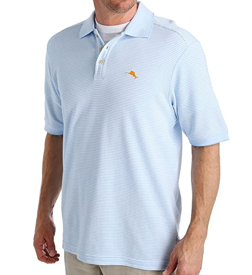 Tommy Bahama Emfielder Leisure Tech Performance Stripe Polo (T212411)  L/Chambray Blue