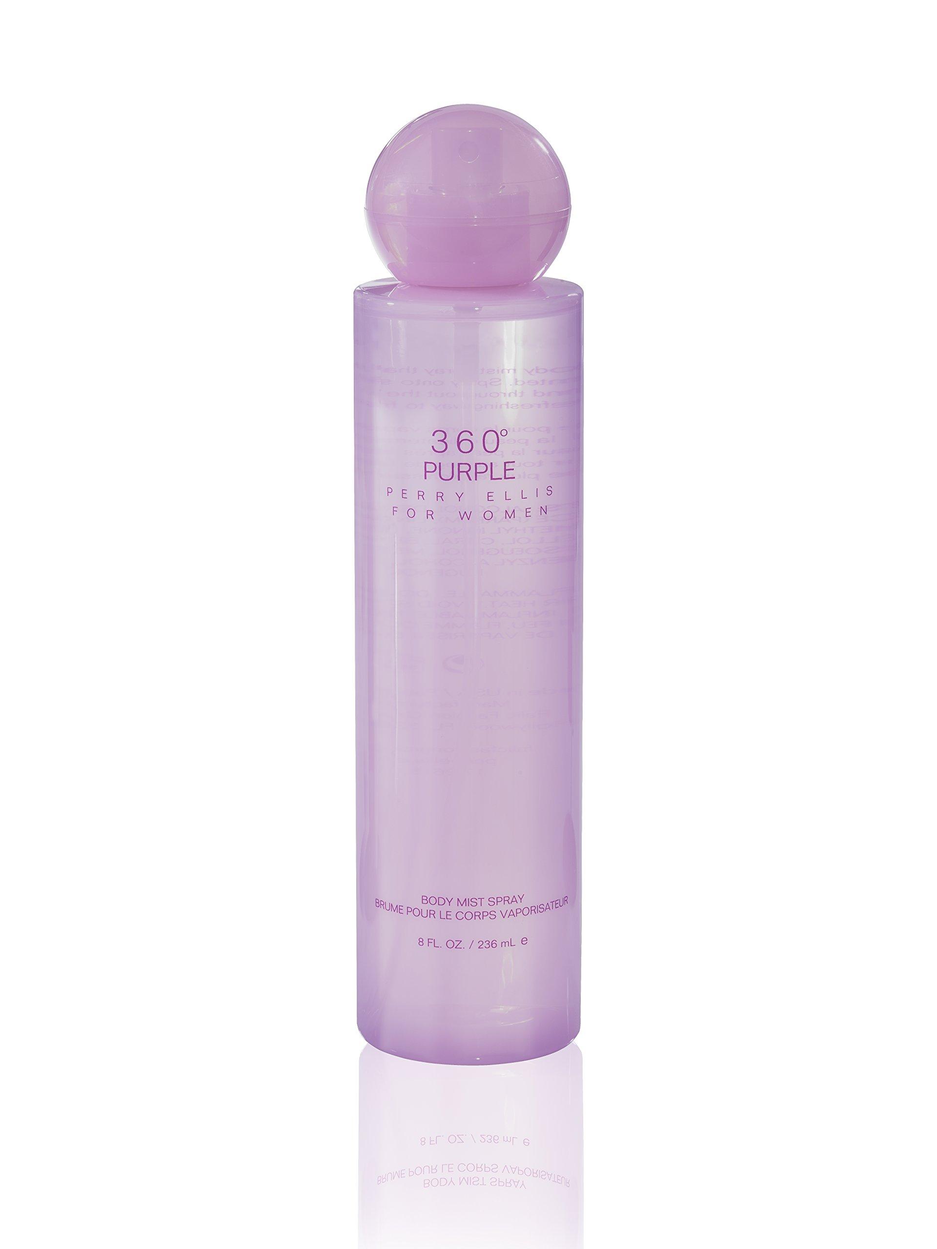 Perry Ellis 360 Purple for Women, 8.0 fl oz Body Mist