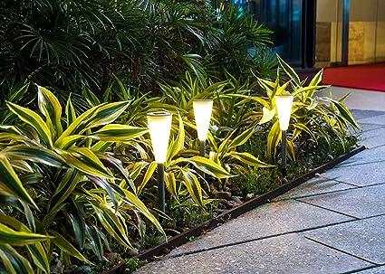 LFL iluminación del con energía solar lámpara luz Exterieur LED sol Waterproof IP44 jardín camino Camping Allé Patio césped: Amazon.es: Iluminación