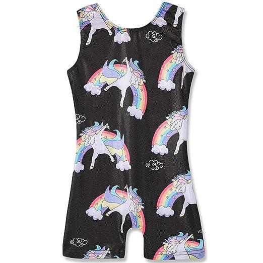 cc3bc4195033 Amazon.com  Leotards for Girls Gymnastics Unicorn Athletic Dance ...