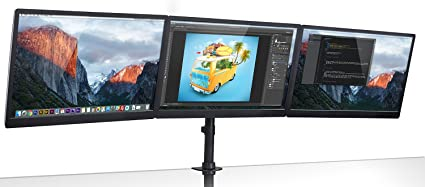 Mount-It. Triple Monitor pantalla plana 3 Protector de escritorio ...
