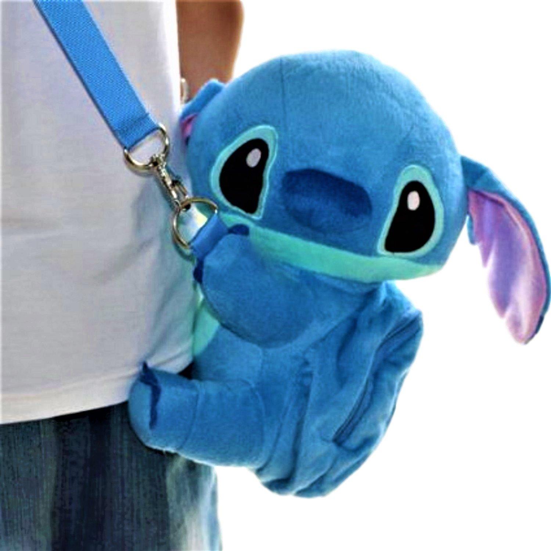 Disney Stitch Set . Soft Plush Crossbody/Shoulder Mini Bag with Small Pocket + Stitch Watch For kids. H 9''. Limited Edition. by LILO & STITCH (Image #4)