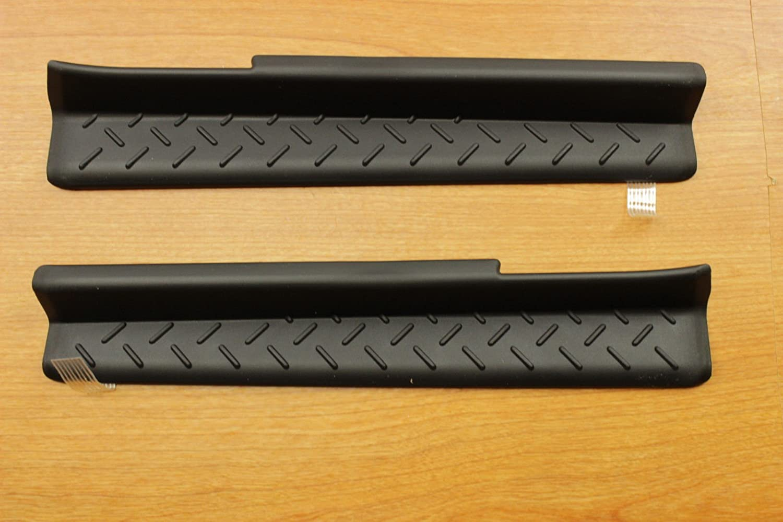 Jeep Wrangler 4-Door Sill Guards Black Plastic Mopar OEM 82210106