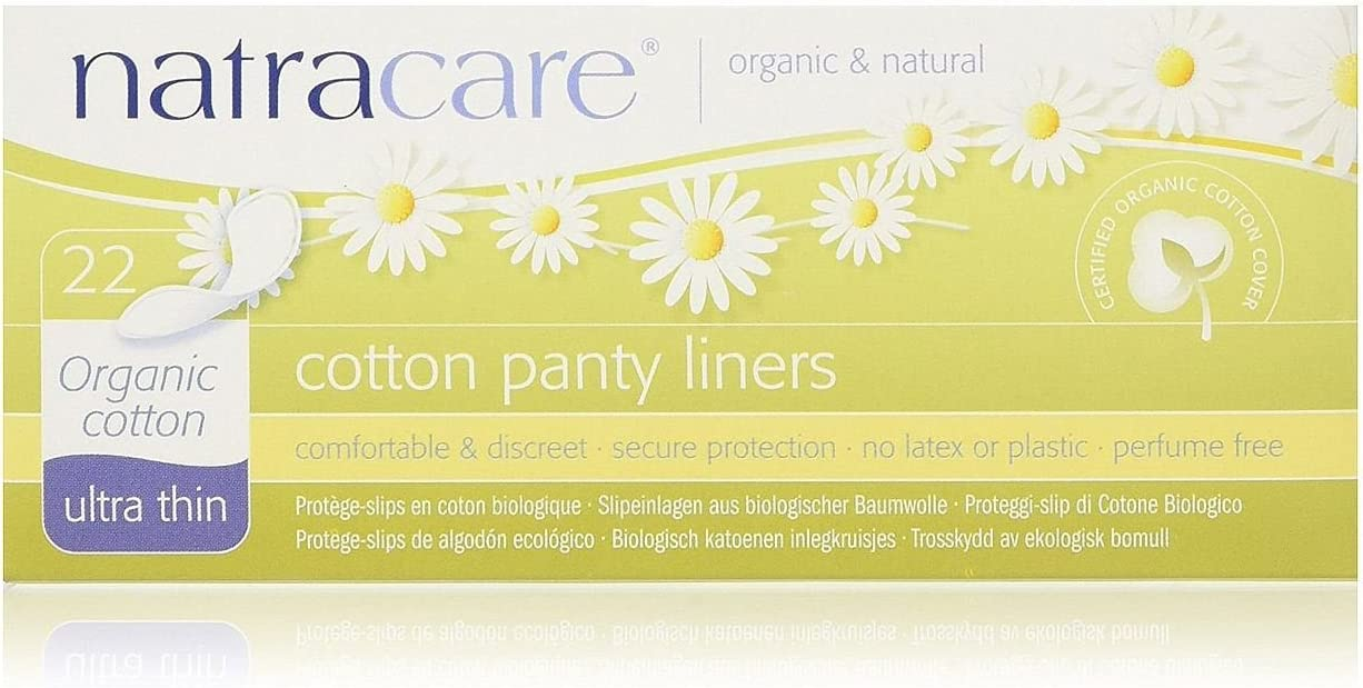 Natracare Ultra Thin Organic Cotton Panty Liners, 22 Count