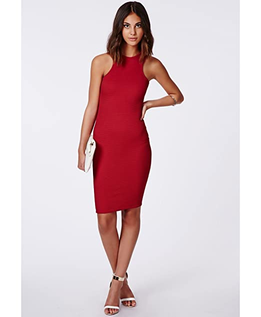 Para mujer inserciones Zara Midi inserciones Racer e instrucciones para hacer vestidos rojo: Amazon.es: Ropa y accesorios