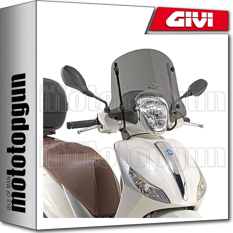 Givi Windschild 5612s Kompatibel Mit Piaggio Medley 125 2016 16 2017 17 2018 18 Auto