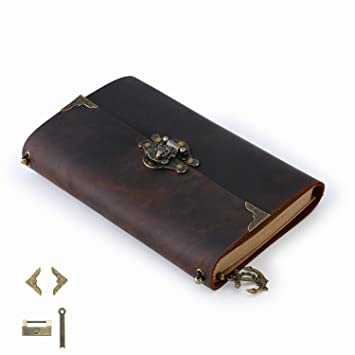 ScrodCat LEATHER JOURNAL Writing Notebook - Antique Handmade Leather Bound  Daily Notepad For Men   Women b14bfeedf