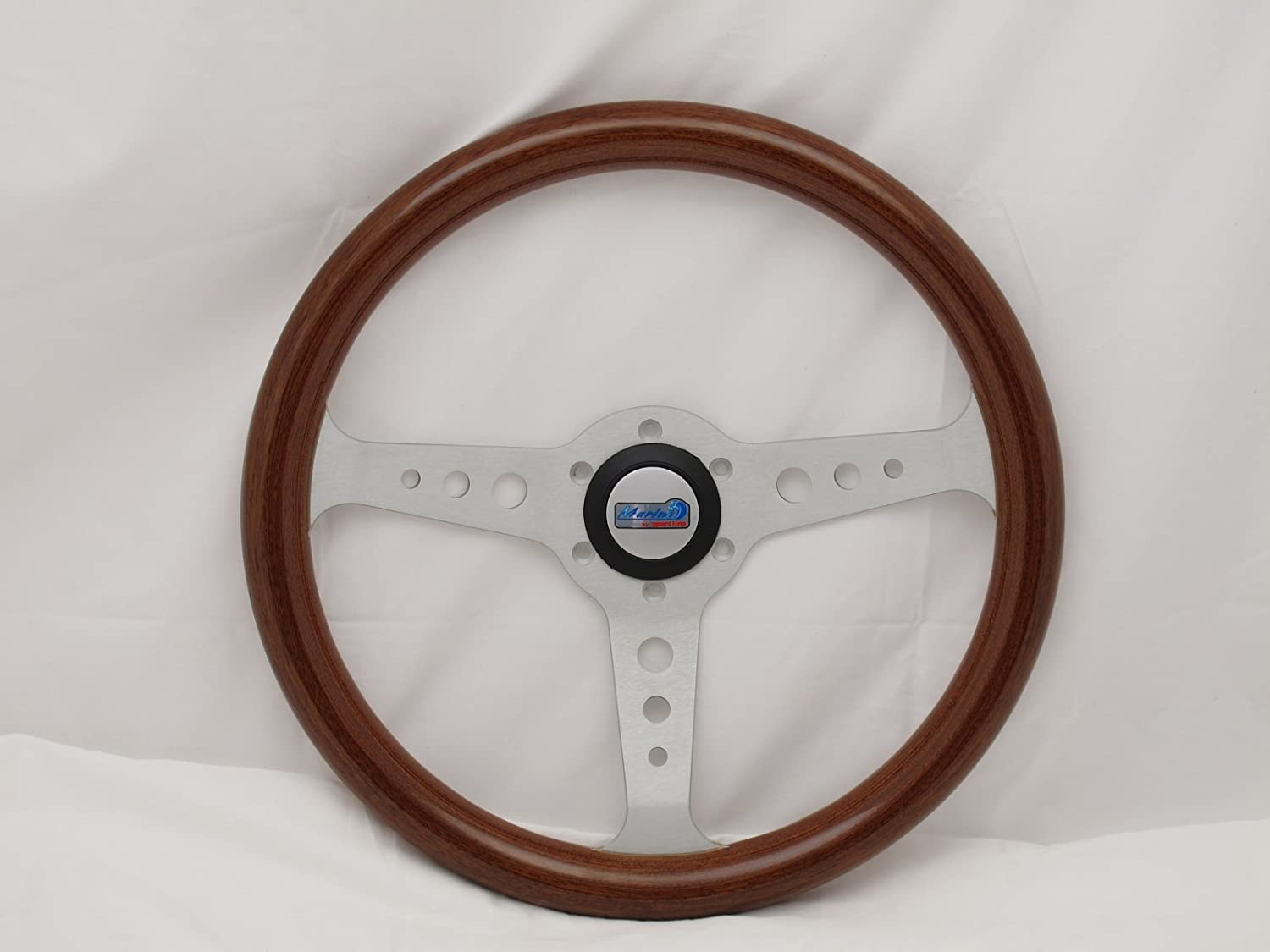 13.78 inches - 350mm NRG Steering Wheel Deep Dish - Black Suede with Black Spokes//Blue Double Center Markings Part # ST-016S-BK 16
