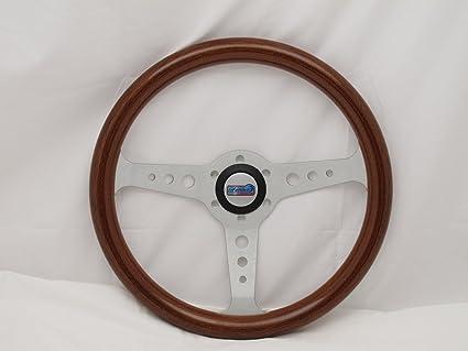 Amazoncom Sport Line 350 Mm Wood Marine Boat Steering Wheel