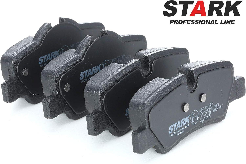 Bremskl/ötze Hinten Scheibenbremse Scheibenbremsbelage Bremssteine STARK SKBP-0011438 Bremsbelagsatz