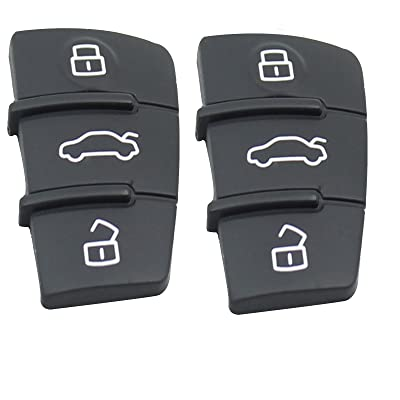 Heart Horse Button Rubber Pad for Audi A3 A4 A5 A6 A8 Flip Remote Key Fob Replacement 2pcs: Car Electronics