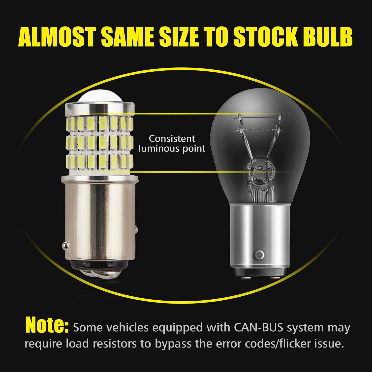 AUXLIGHT 3157 3156 3057 4157 3157K LED Bulbs Brilliant Red Blinker Lights Ultra Bright 57-SMD LED Replacement for Brake//Tail Lights Turn Signal//Parking or Running Lights Pack of 2