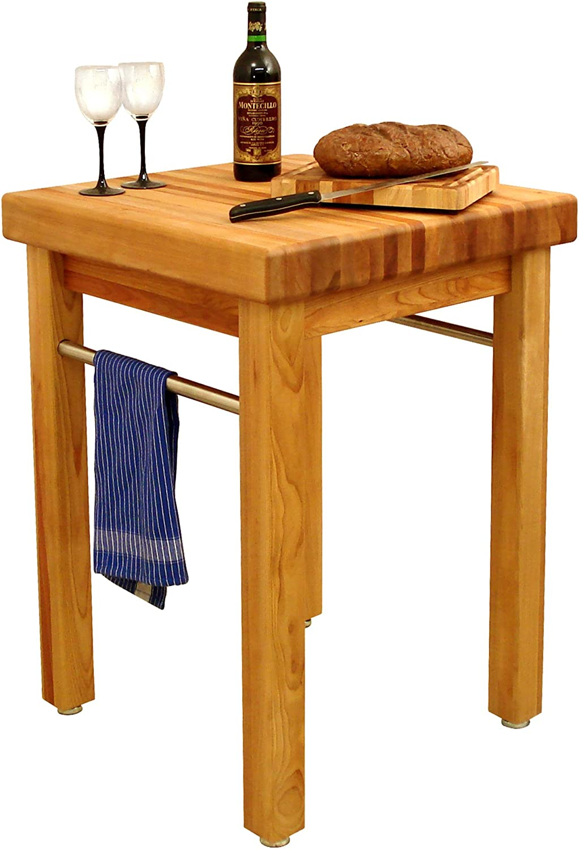 Amazon Com Catskill Craftsmen French Country Square Butcher S Block Kitchen Islands Carts