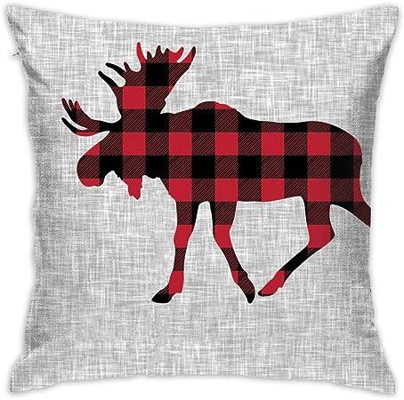9 Quilt Block – Moose – Manta Buffalo_12530 – Funda de Almohada ...