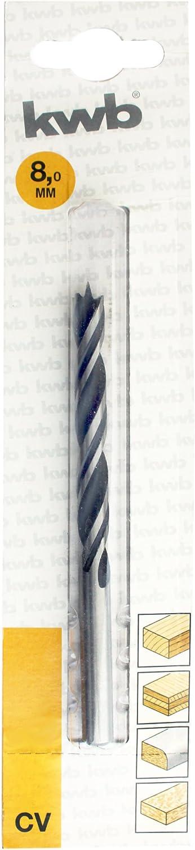 kwb Premium Line Holzbohrer mit Zentrierspitze 511408 /Ø 8mm Chrom Vandium
