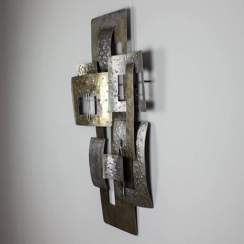 mosa designs - Cuadro de metal en 3D para pared, 59 x 80 cm, diseño Zoccolino