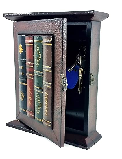 Bellaa 25396 Key Holder Key Boxes & Cabinets Wall Mounted Antiques Finished  Decorative Key Organizer Rack - Amazon.com : Bellaa 25396 Key Holder Key Boxes & Cabinets Wall