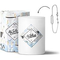 MY JOLIE CANDLE • Bougie Parfumée avec Bijou Surprise à l'Intérieur • Cadeau : Bracelet • Parfum Linge Frais • Cire Naturelle 100% Végétale