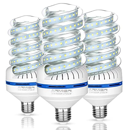 Light Bombillas LED E27, 30 W equivalente a 250 W, Blanca Fria