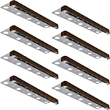 LEONLITE 8-Pack 12 Inch LED Hardscape Paver Light, 3W Low Voltage, Retaining Wall Lights Outdoor, IP65 Waterproof, Soft…