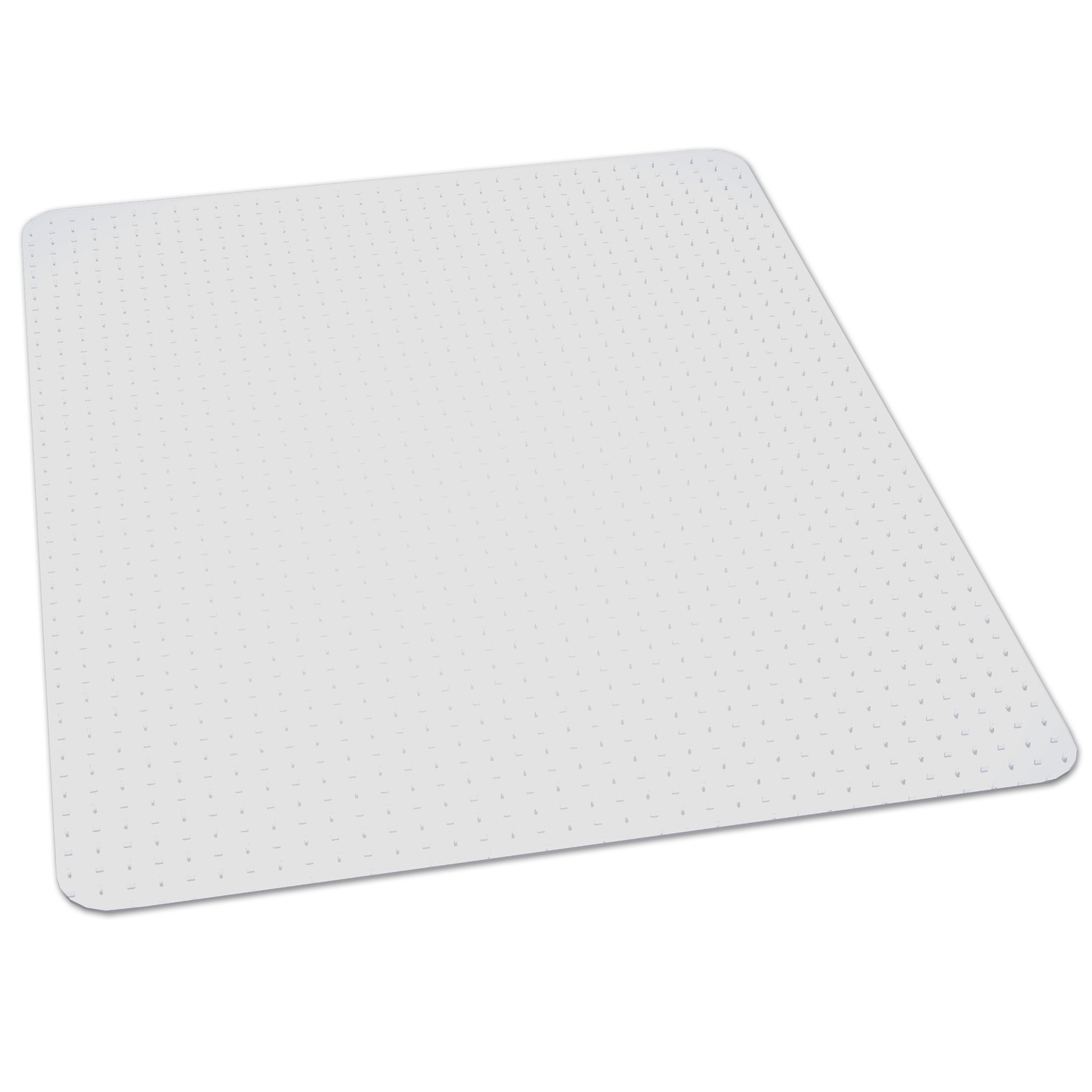 ES Robbins Rectangle Vinyl Chair Mat for Extra-High Pile Carpet, 46-Inch by 60-Inch, Clear
