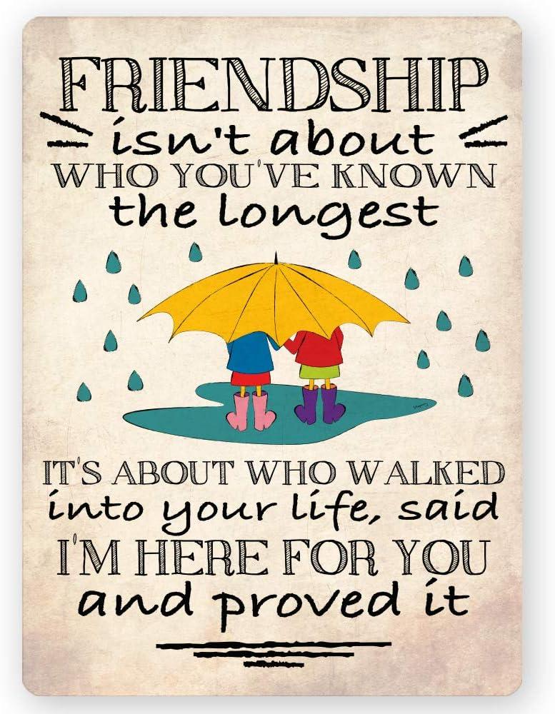 Amistad No Es Sobre quién has conocido el más largo Friendship Quote Inspirational regalo imán para nevera 4X 3inch