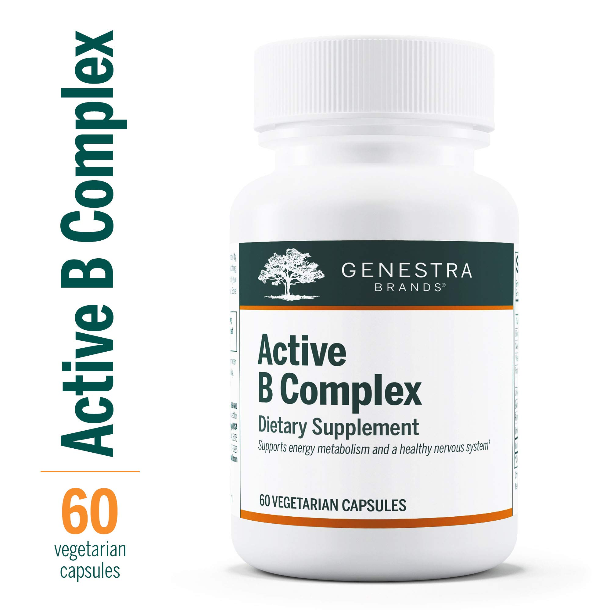 Genestra Brands - Active B Complex - Complete B Vitamin Complex Supplement - 60 Vegetable Capsules