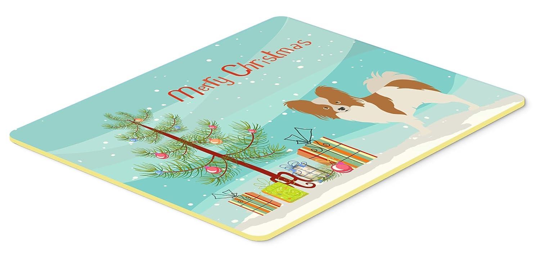 Carolines Treasures BB8472CMT Papillon Christmas Kitchen Mat 20Hx30W Multicolor