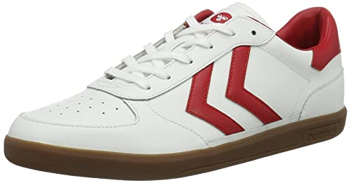 Unisex Adults Victory Leather Trainers, White, 6 Hummel