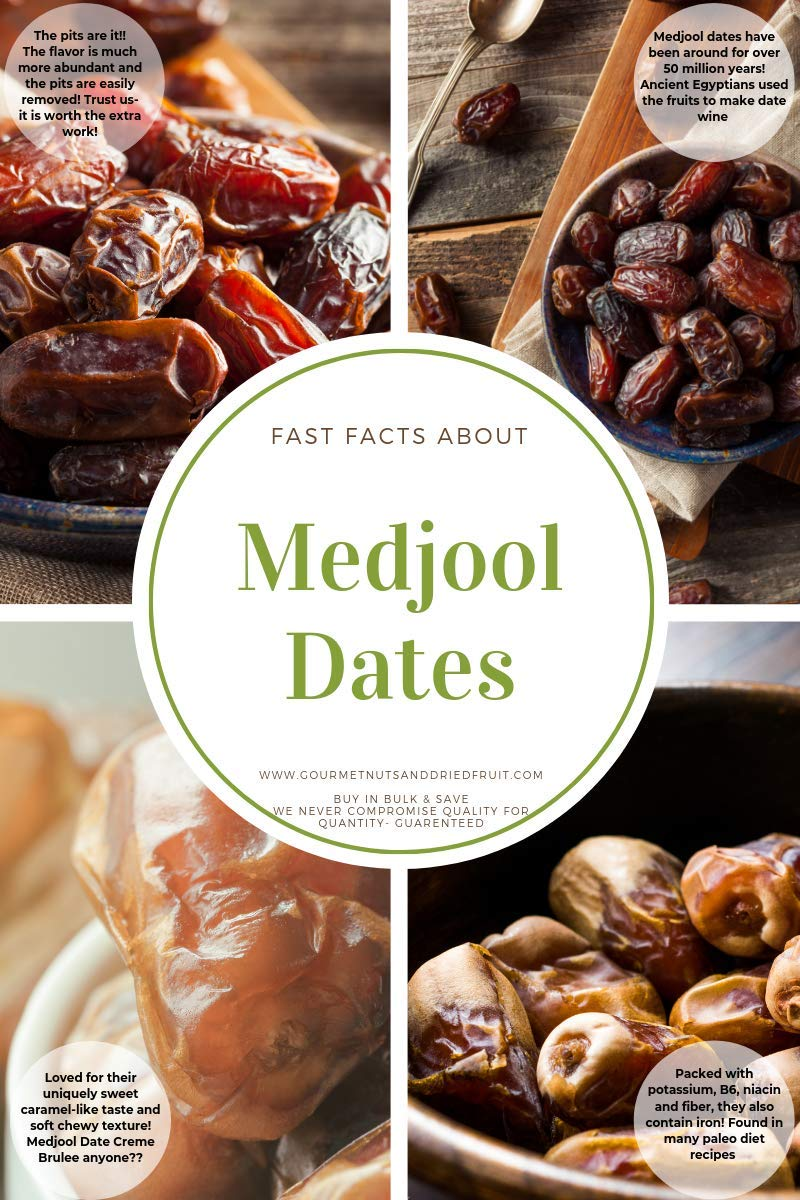 Dates - Bulk Medjool Dates 25 Pound Value Box - Freshest and highest quality dried fruit from US based farmers markets - Bulk dried fruit for homes, restaurants, and baked goods. (25 LBS)