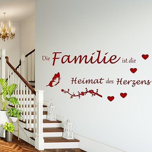Wandtattoo Wandschnörkel Aa142 Die Familie Ist Die Heimat