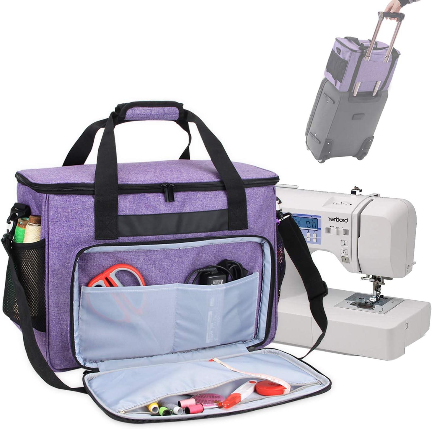 Teamoy Bolsa para Máquina de Coser, Maletas de Transporte máquinas de Coser, Púrpura