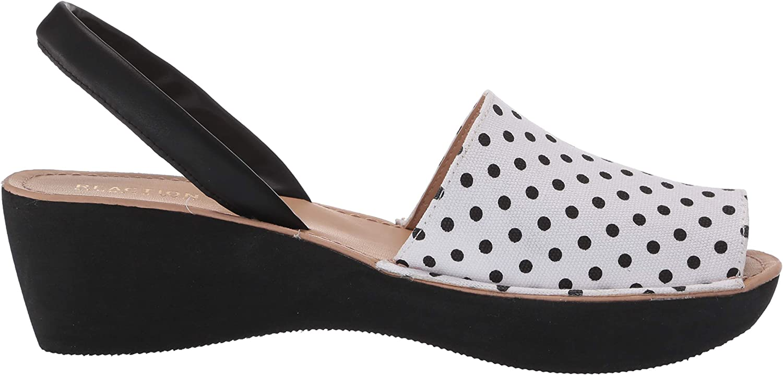Kenneth Cole REACTION Womens Peep Toe Platform Wedge Sandal
