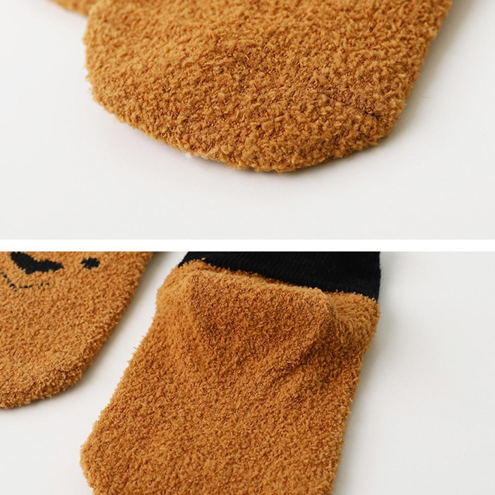 Kids Floor Socks Sacow Unisex Baby Cute Printed Tube Sock Coral Cashmere Socks