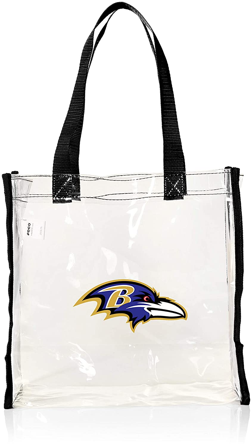 2013 NFL Football Clear See Thru Reusable Bag - Pick Team - Baltimore Ravens Forever Collectibles BGCLRNFREUBRV