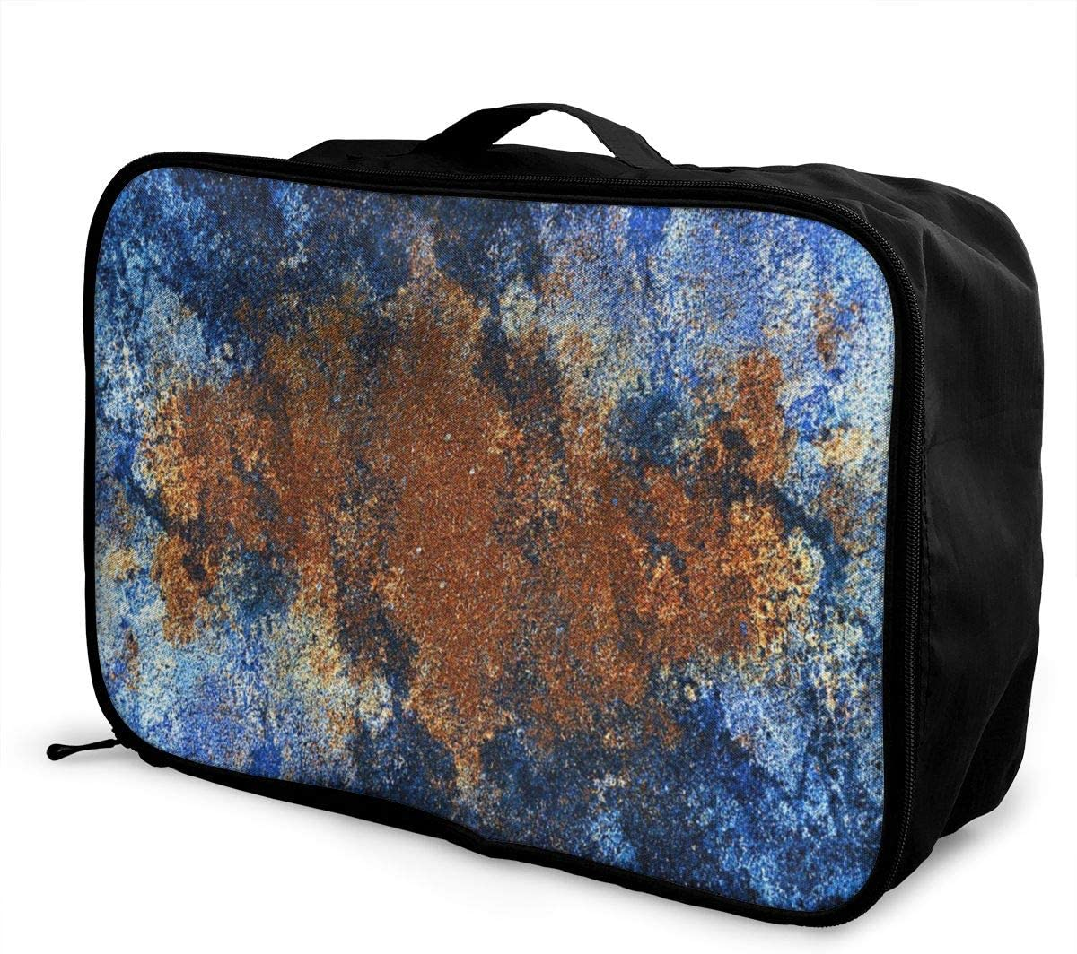 Yunshm Texture Blue Plaster Kaleidoscope Customized Trolley Handbag Waterproof Unisex Large Capacity For Business Travel Storage