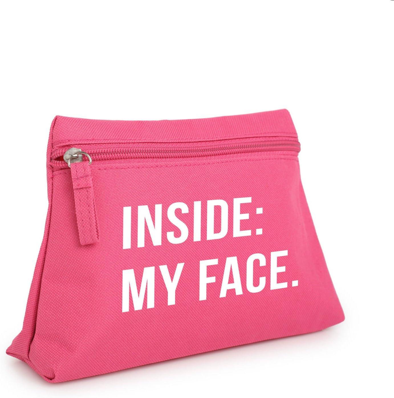 Dentro de Mi Cara Maquillaje bolsa neceser estuche organizador Monedero Tumblr carcasa: Amazon.es: Hogar