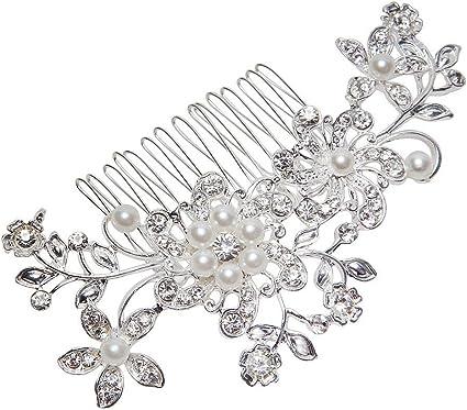 Frauen Blume Haarspange Kristall Strass Haarspange Haarnadel Stirnband PRO de