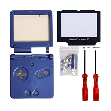 Gameboy sp Shell,Timorn gba sp Shell Replacement for Nintendo GBA SP Gameboy Advance SP Shell Replacement(Blue Pack)