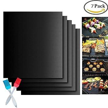 BBQ Grill Mat, antiadherente PTFE Oven Liner Cocinas de cocina perfectas para hornear con gas