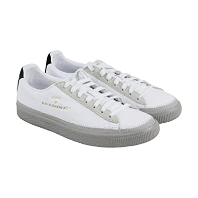09ccf9745b99 PUMA Unisex x Han Kjobenhavn Basket Stitched Sneaker White Drizzle 9.5 D  US  Amazon.co.uk  Shoes   Bags