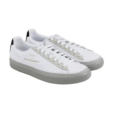 6f0283c6b3e0f1 PUMA Unisex x Han Kjobenhavn Basket Stitched Sneaker White Drizzle 9.5 D  US  Amazon.co.uk  Shoes   Bags