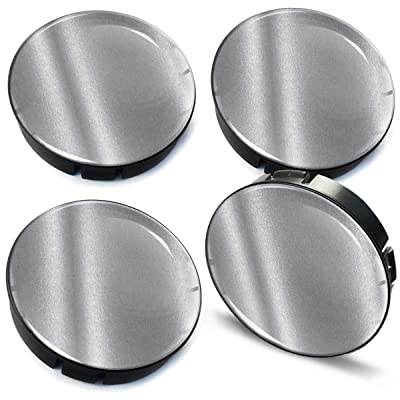 4 x 60mm / 55mm Universal 3D Wheel Hub Centre Caps Silver Center Rims C 97: Automotive