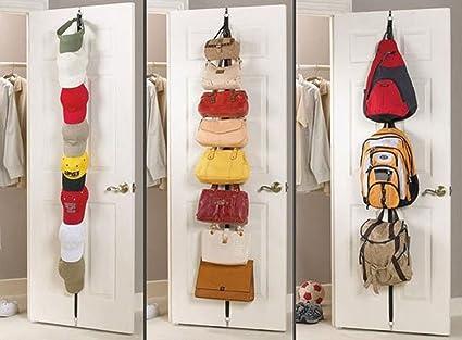 Negro Dormitorio Baño Puerta tira de gancho colgador gancho para colgar ropa perchero bolsa camiseta