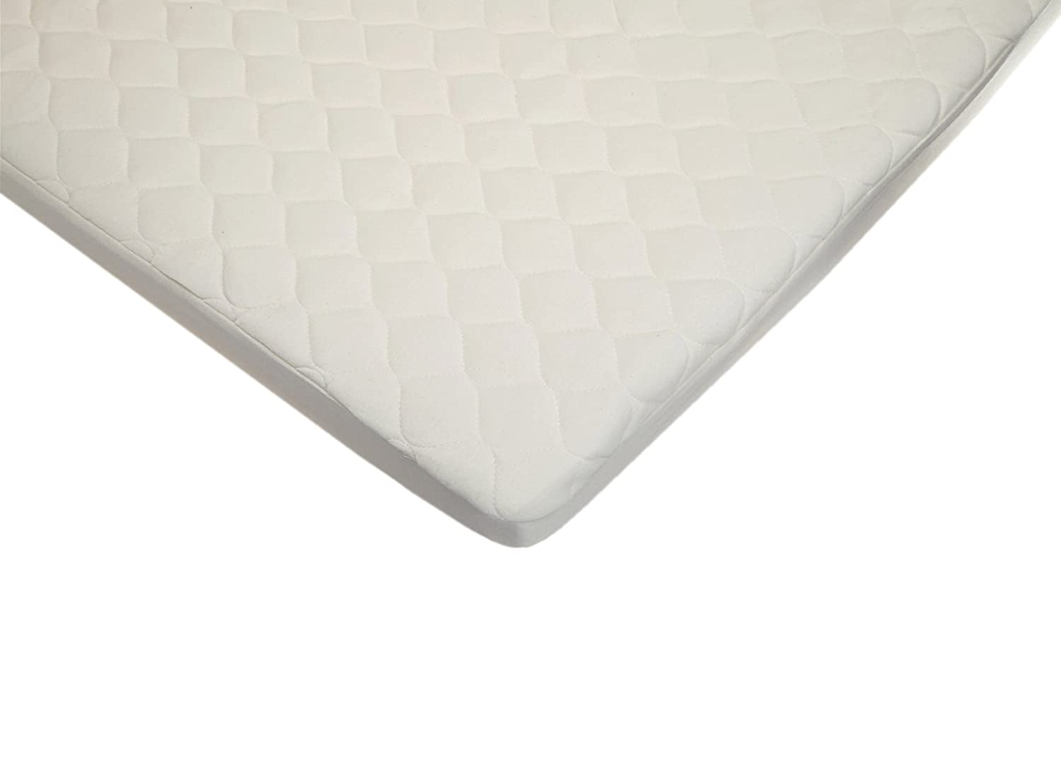 American Baby Company Waterproof Quilted Crib and Toddler Size Fitted Mattress Cover made with Organic Cotton, Natural Color 82763