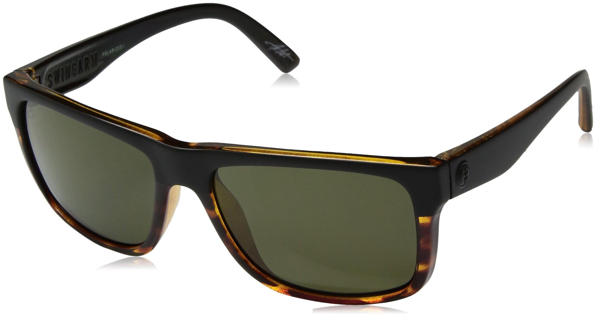 Electric Eyewear  Men's Swingarm Polarized Dark Side Tort/Ohm Polar Grey One Size by Electric (Image #1)