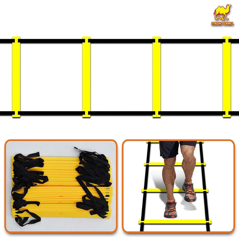 人気商品の Strongキャメル20-rung 8 M強度&速度機敏性トレーニングラダーConesキットSoccer Footballバスケットボール   B078HB21HL, セレクトショップ worth:13fb483d --- shrigajendrajewellers.com