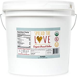 product image for Spread The Love NAKED Organic Peanut Butter (Organic, All Natural, Vegan, Gluten-free, Creamy, Dry-Roasted, No added salt, No added sugar, No palm oil) (15-Pounds)