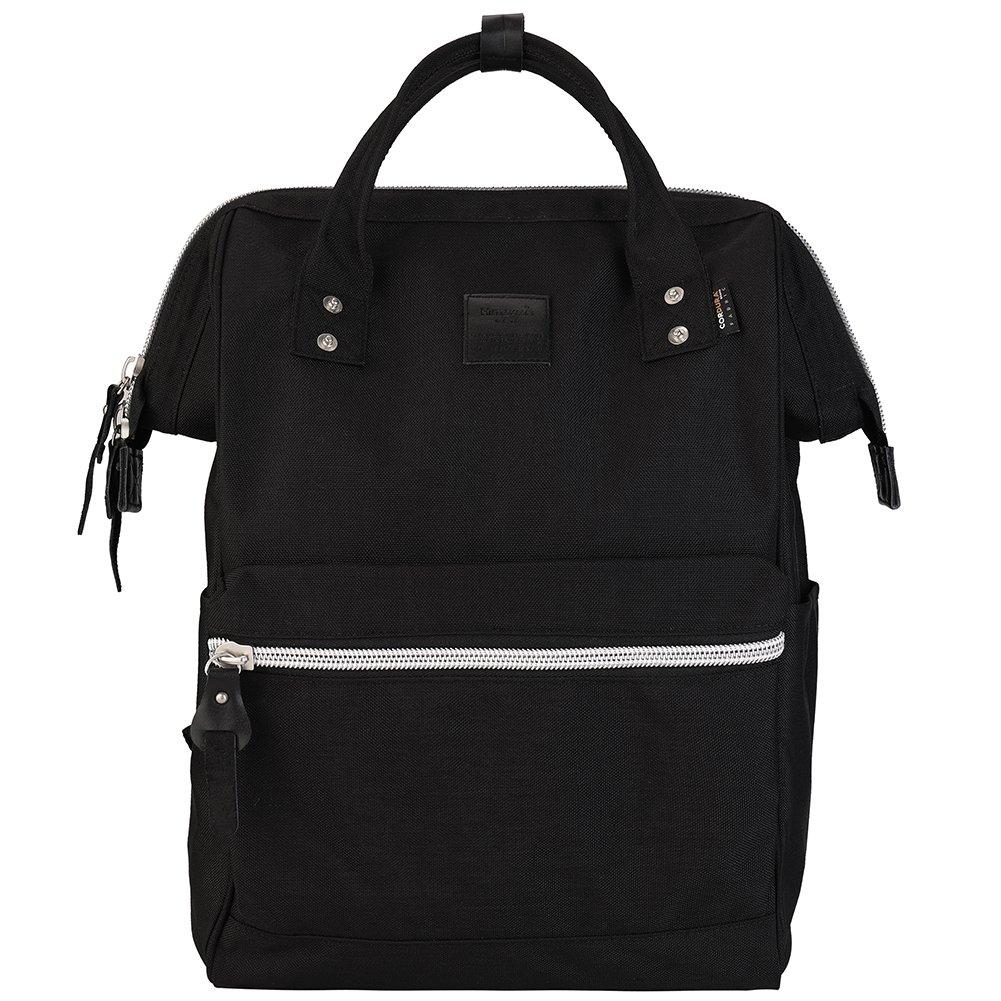 Himawari Travel Backpack Large Diaper Bag School Backpack for Women&Men 17.7''x11.8''x7.9''(black&plus)