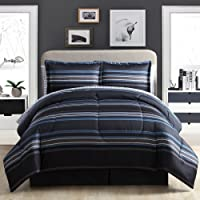 Ellison 17101702BB-MUL-ECO Great Value Soho Stripe 7Piece Bed in A Bag Set